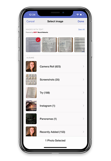 Scan and OCR docs and books in PDF or JPG on iPhone and Android