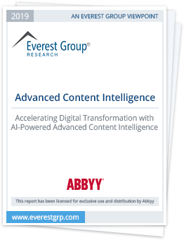 Accelerating digital transformation with ABBYY Content Intelligence
