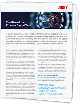 The Rise of the Process Digital Twin - ABBYY Timeline brochure