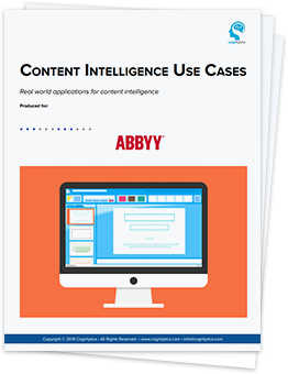 Download Cognilytica White Paper on top use cases for Content Intelligence