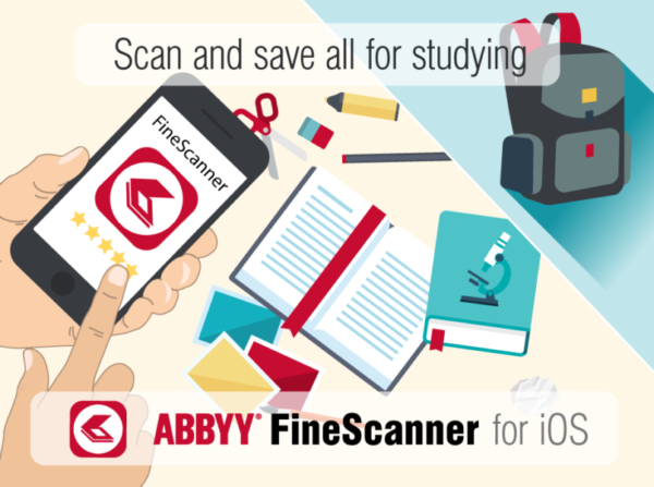 Abbyy FineScanner scan save study iOS
