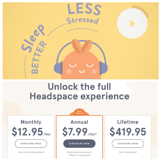 Headspace application relax meditation Android iOS