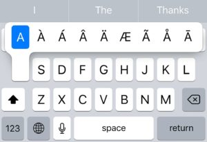 ios keyboard symbols (keys) iPhone