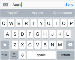 ios keyboard predictive typing