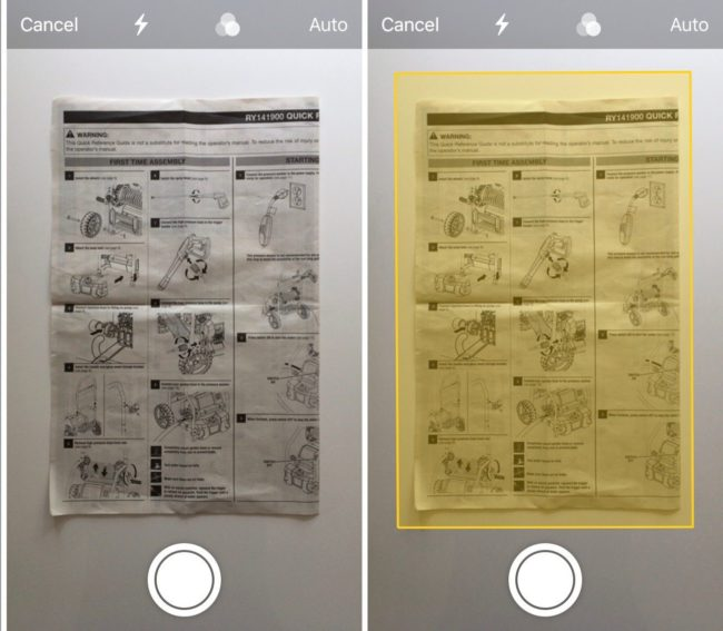 how to scan documents ios-11