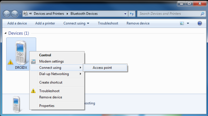 Add device Connect using Access point