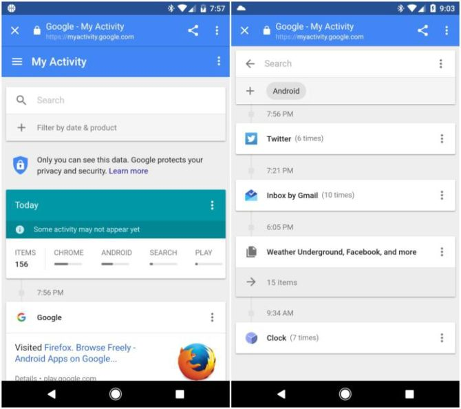 Customize Google services my activity android