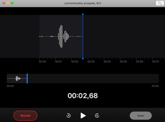 voice memos on mac