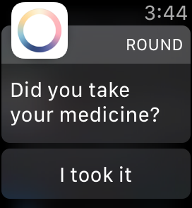 reminder on apple watch