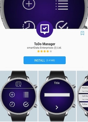 to do list on samsung gear
