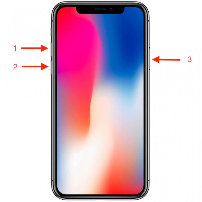 how to restart iphone x xs xr