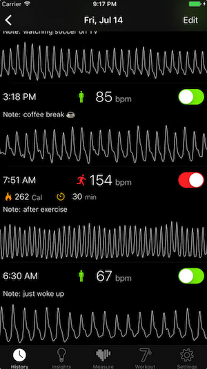 heart rate on iphone