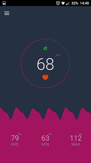 heart rate on android